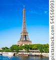 世界遺產巴黎塞納河埃菲爾鐵塔垂直位置 54556993