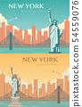 Statue of Liberty banner set. World landmark. American symbol. New York city. Vector 54559076