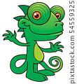 Happy Chameleon Cartoon 54559325