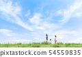 家庭,藍天,肩膀車,旅行 54559835