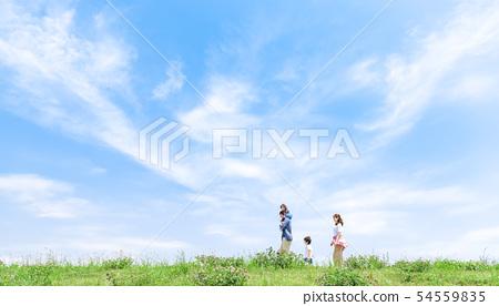 가족, 푸른 하늘, 목말 여행 54559835