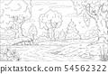 Coloring Book Landscape 54562322