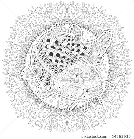 Cartoon Stylized Fish Catfish 54563939