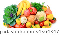 Fruits and vegetables isolated on a white 54564347