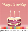 Birthday cake with candle vector design isolated o 54564785