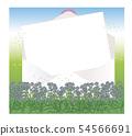 열린 봉투와 편지지 라벤더 밭 54566691
