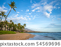 scenery at kaanapali beach in maui island, hawaii 54569696