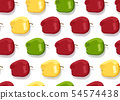 Apple colorful seamless pattern on white 54574438