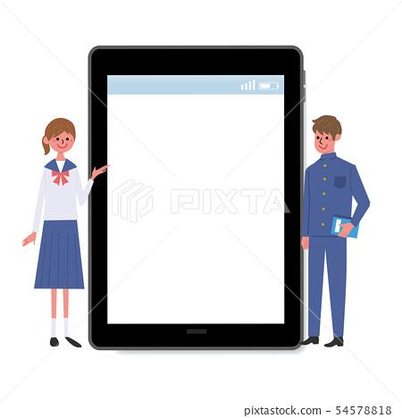 數字家電平板電腦學生高中生 54578818