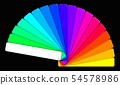 colored swatches book showing the rainbow colors 54578986