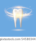 Healthy Human Tooth Logo. Dental Care Concept for Dentistry Clinic or Dentist Medical Center 54580344