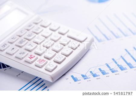 計算器報告白靛藍金融計算器金融keisanki金融 54581797