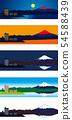 富士山5景觀色彩生活矢量 54588439