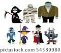 Halloween illustration set 03 54589980