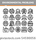 Environmental Problems Vector Thin Line Icons Set 54590056