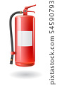 Vector realistic red fire extinguisher 54590793
