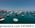 Castro Urdiales blurred marina long exposure, wide angle 54590831