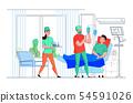 Hospital Nurse Flat Composition  54591026
