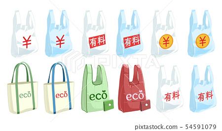 環保塑料袋塑料袋充電環保袋材料 54591079