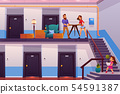 Family moving to new home cartoon vector concept 54591387