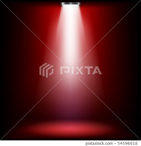 Studio lights for awards ceremony with red light. 54596018
