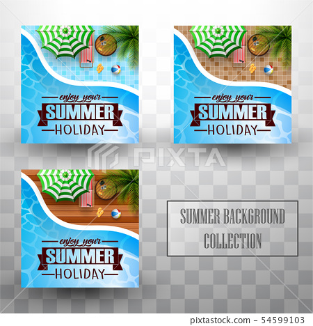 Summer swimming pool top view background 54599103