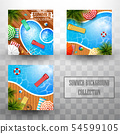 Summer swimming pool top view background 54599105