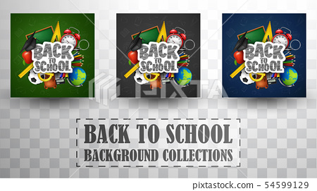 Back to school background collections 54599129