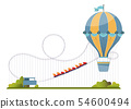 Vector illustration with amusement park elements. 54600494