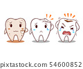Cartoon illustration of tooth with teeth problems. 54600852