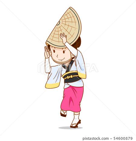 Awa Odori dancer, Japanese traditional dancer. 54600879