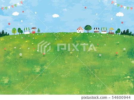마르쉐와 초원의 풍경 유화 54600944