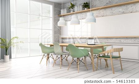 Minimalist interior ,meeting room 54613385