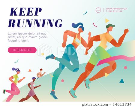 Marathon running social media post 54613734