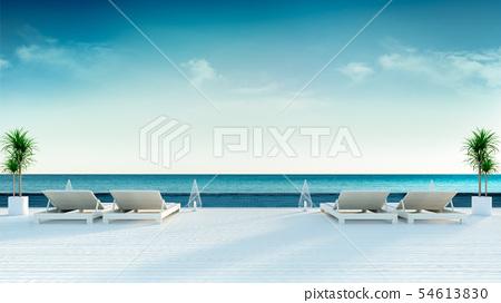 beach lounge,sun loungers on Sunbathing deck 54613830