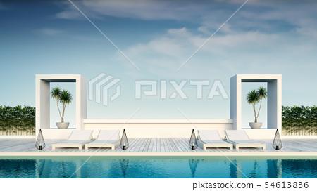 beach lounge,sun loungers on Sunbathing deck 54613836