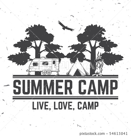 Summer camp. Vector illustration. Concept for shirt or logo, print, stamp or tee. 54613841