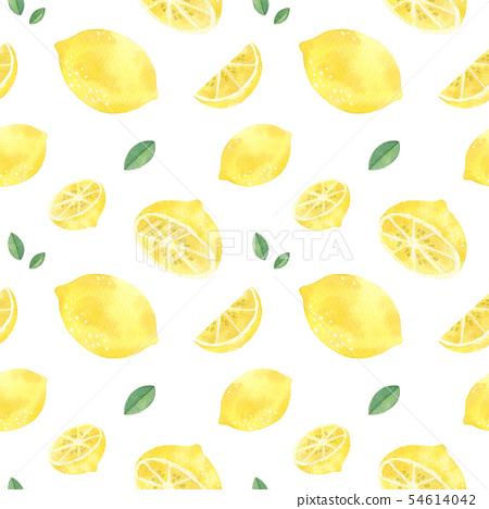 Lemon handdrawn seamless pattern 54614042