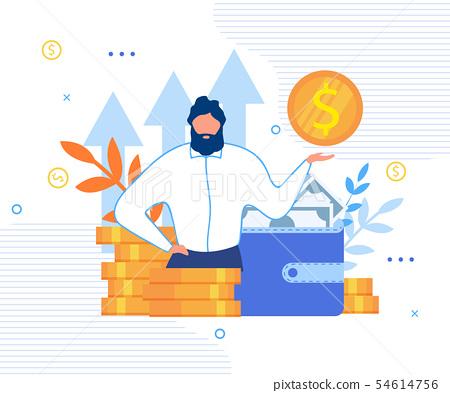 Businessman and Personal Financial Target Cartoon 54614756
