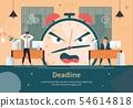 Business Project Deadline Fail Flat Vector Poster 54614818