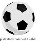 Football Soccer Ball With Classic Design Isolated On White Background. Vector Illustration. 54615460