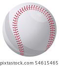 Baseball ball. SoftBall Base Ball. Realistic Baseball Icon. Vector Illustration 54615465
