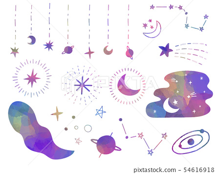 材料套的月亮和星星 54616918