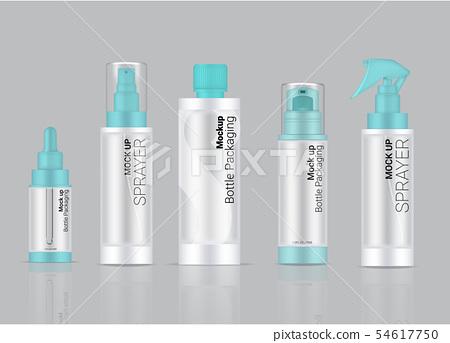 Bottle Mock up Transparent Realistic Skincare 54617750