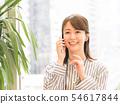 談話在智能手機的女商人 54617844