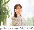 談話在智能手機的女商人 54617845