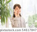 談話在智能手機的女商人 54617847