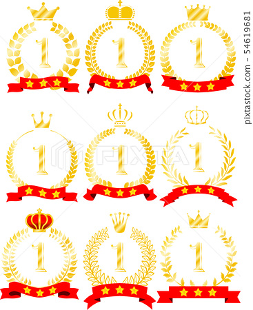 월계관 로렐 리본 순위 왕관 우승 세트 54619681