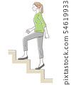 여성 계단 오르기 54619933
