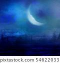 grunge image of moon landscape 54622033
